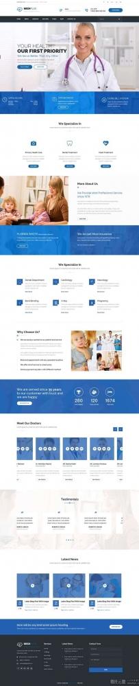 大气的儿童医院医疗服务网站模板html整站