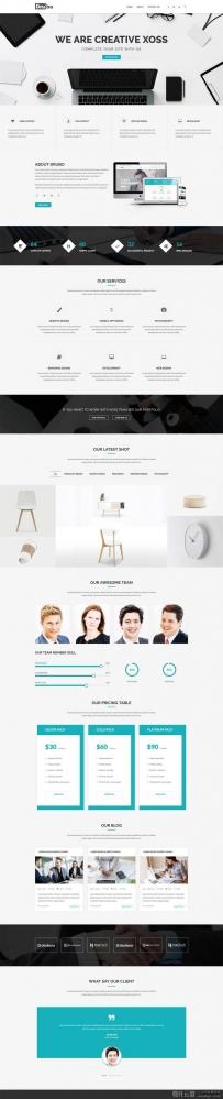 响应式的创意设计公司网站模板