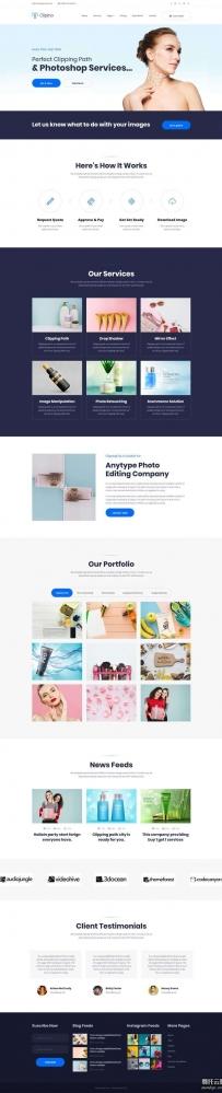 bootstrap图片广告设计服务公司网站模板