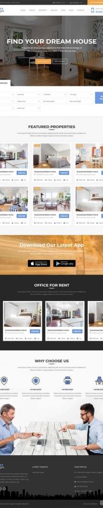 大气的房地产中介销售网站html响应式模板
