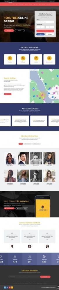 Bootstrap社交软件平台官网模板
