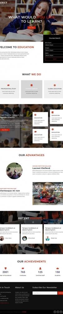 bootstrap在线图书馆网站模板
