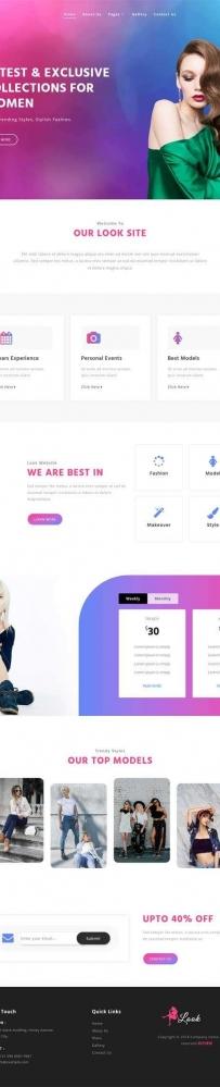 简洁的造型美发网站模板