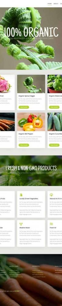 绿色有机蔬菜种植网站html5动画模板