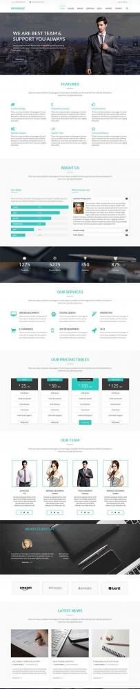 bootstrap商务合作业务公司网站模板