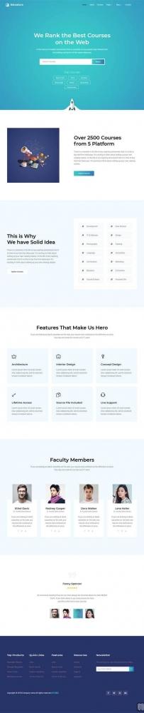 简洁的在线课程学习平台网站模板