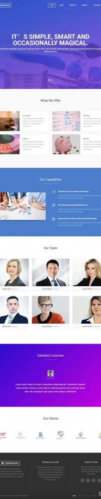 简洁大气的商业调查分析企业网站模板