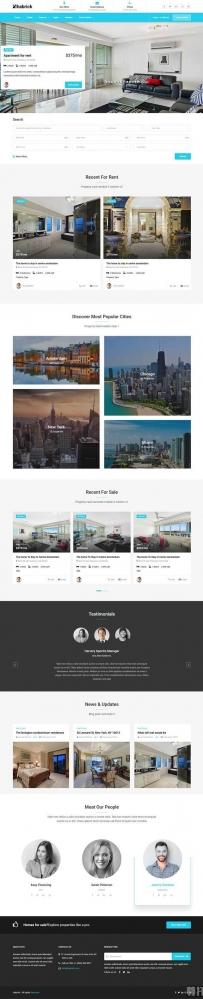 Bootstrap房产公寓出租网站模板