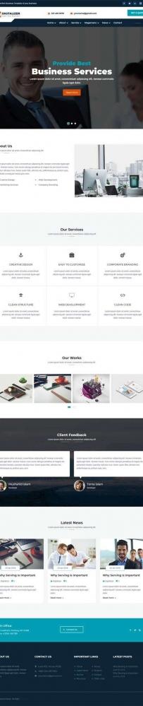 大气的商业服务商务公司bootstrap网站模板