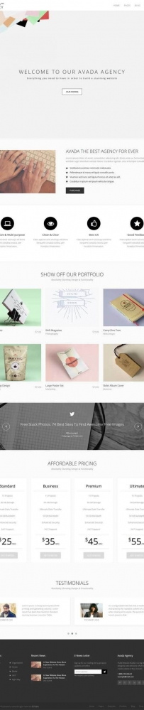 简洁的VI广告设计公司网站模板