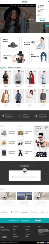 黑色大气的服装销售电商网站模板
