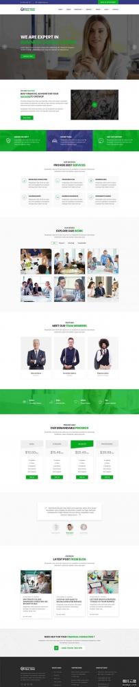 大气的商务金融咨询网站bootstrap模板