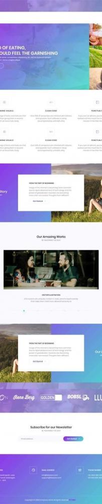 紫色的图片博客个人页面模板