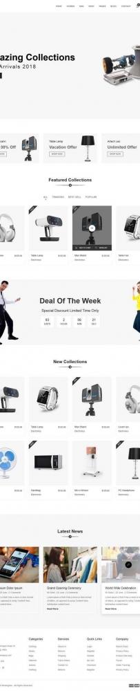 简洁的电子数码购物网站bootstrap模板