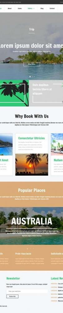 旅游攻略介绍网站展示html5动画模板