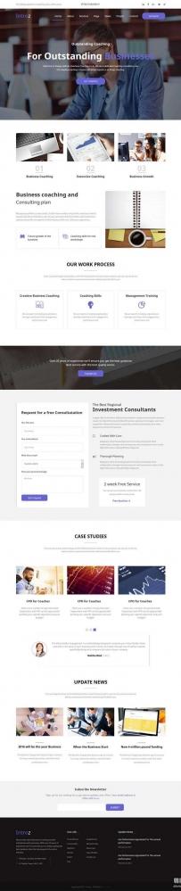 响应式的教育培训机构bootstrap网站模板