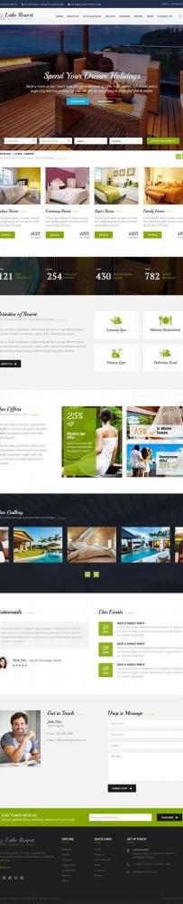 Bootstrap旅游酒店预订网页模板