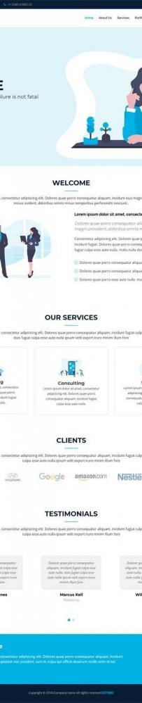 简洁的咨询企业网站通用模板