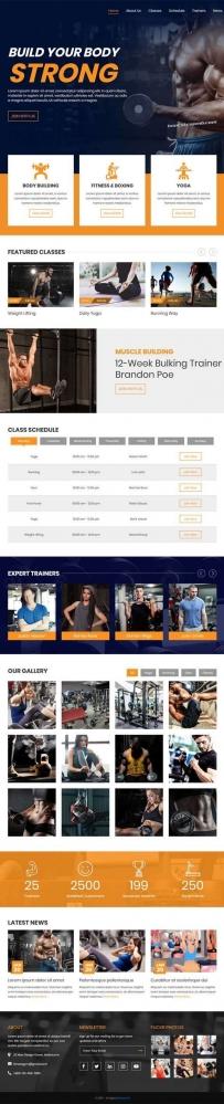 大气的健身俱乐部Bootstrap网站模板