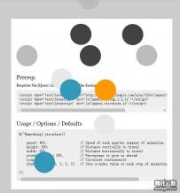 jquery各种小球弹动效果展示特效源码下载