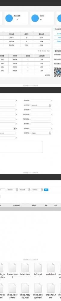 电子商务后台分销系统页面模板