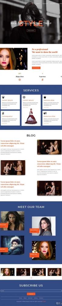 时尚潮流模特摄影网站模板