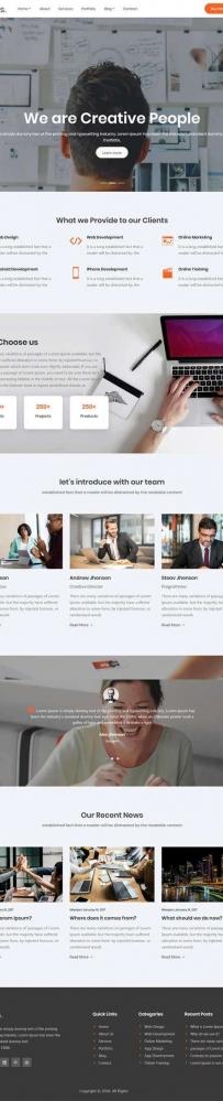 大气的企业管理咨询网站模板