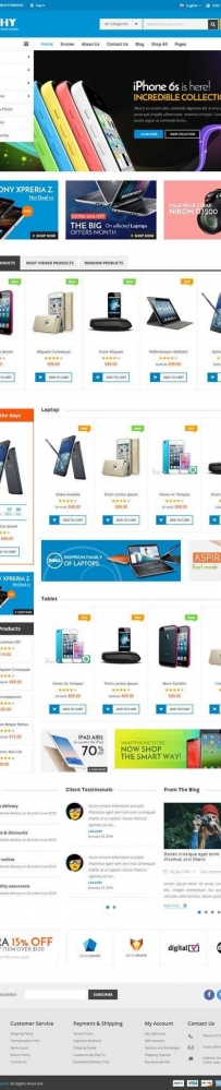 bootstrap手机数码产品商城网站模板