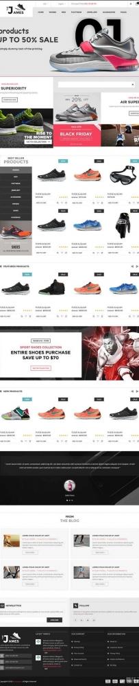 html5黑色的网上鞋子销售商城网页模板