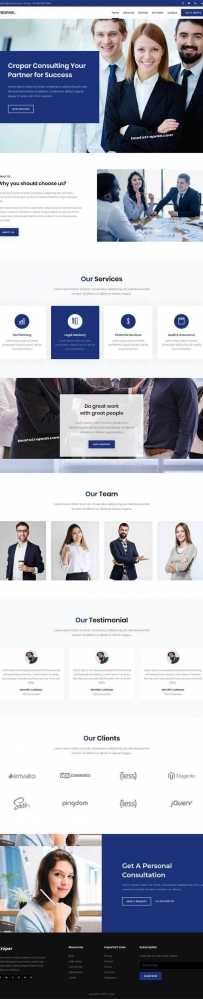 大气简约Bootstrap商务咨询企业网站模板