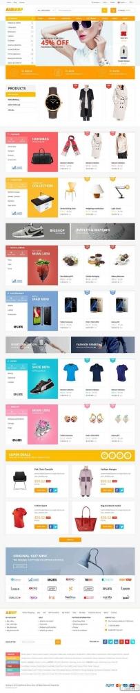 12款通用的综合购物商城官网html模板源码