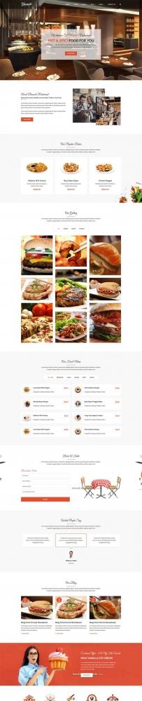 大气的餐饮行业Bootstrap网站模板