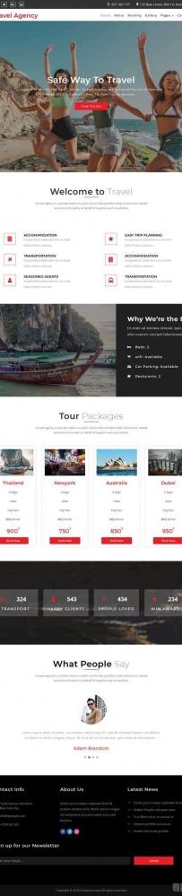 响应式的旅行社服务网站模板