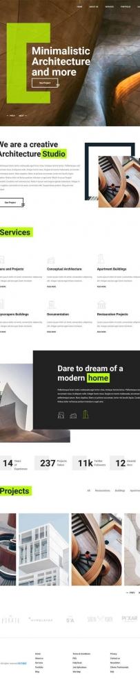 创意的建筑设计公司官网模板