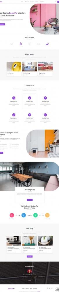 简洁的创意家居生活网站模板