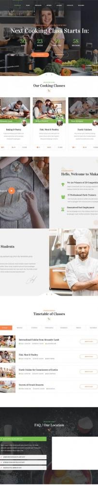 烹饪美食交流平台网站Bootstrap模板