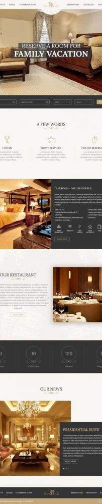html5大气的豪华酒店预订网站模板