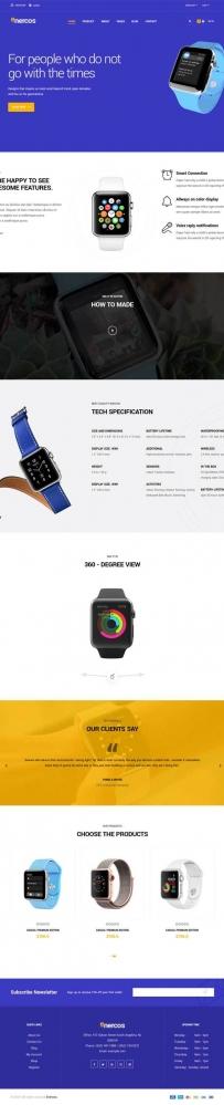 智能手表官网商城模板