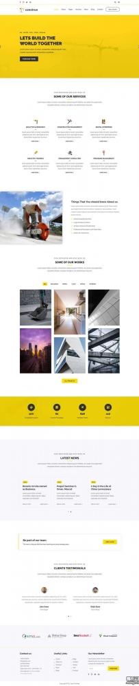 大气的房屋建筑企业官网模板