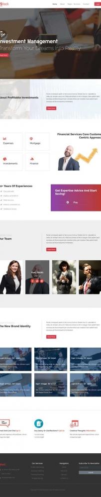 宽屏的商业金融投资管理公司网站模板