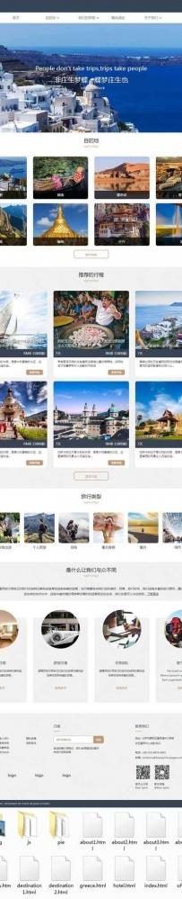 响应式的出国旅游定制公司官网html模板