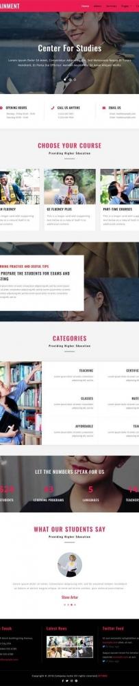 红色的图书馆出版社公司网站模板