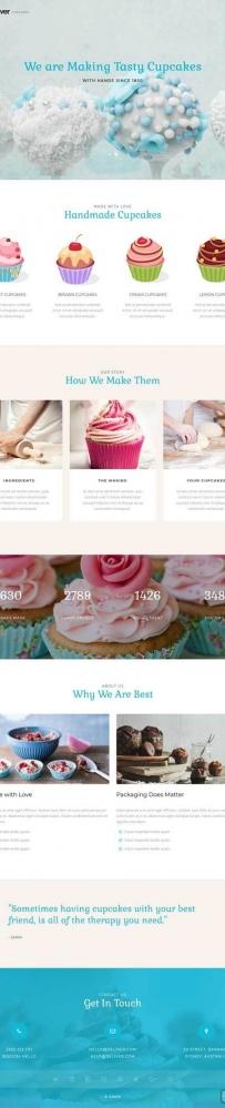 简洁大气的蛋糕甜品店网站模板