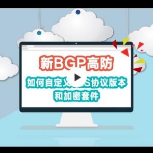 新BGP高防如何自定义TLS协议版本和加密套件